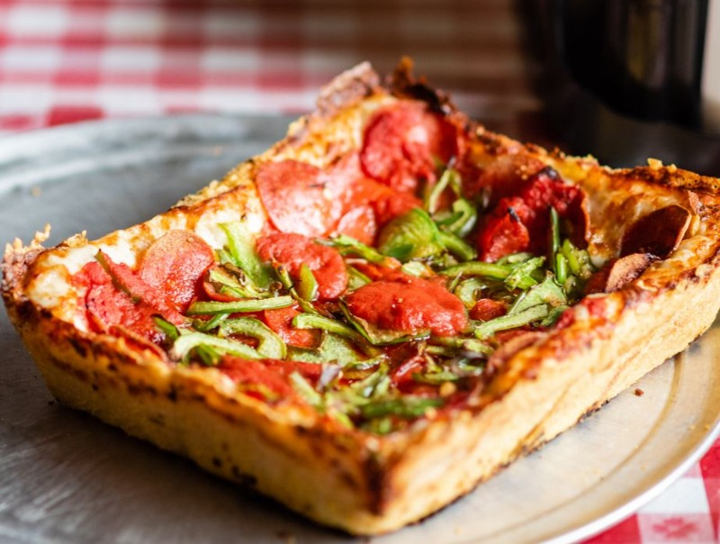 2 Detroit 1-topping pizzas $22 Image