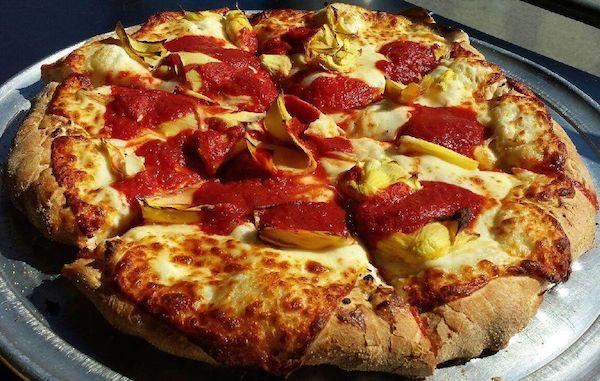 Creamy Artichoke Pizza Image