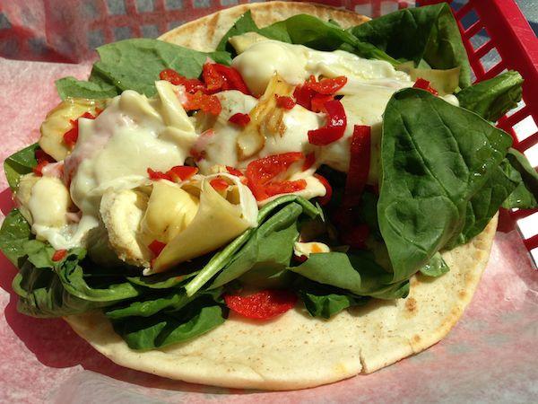 White Veggie Melt Pita Image