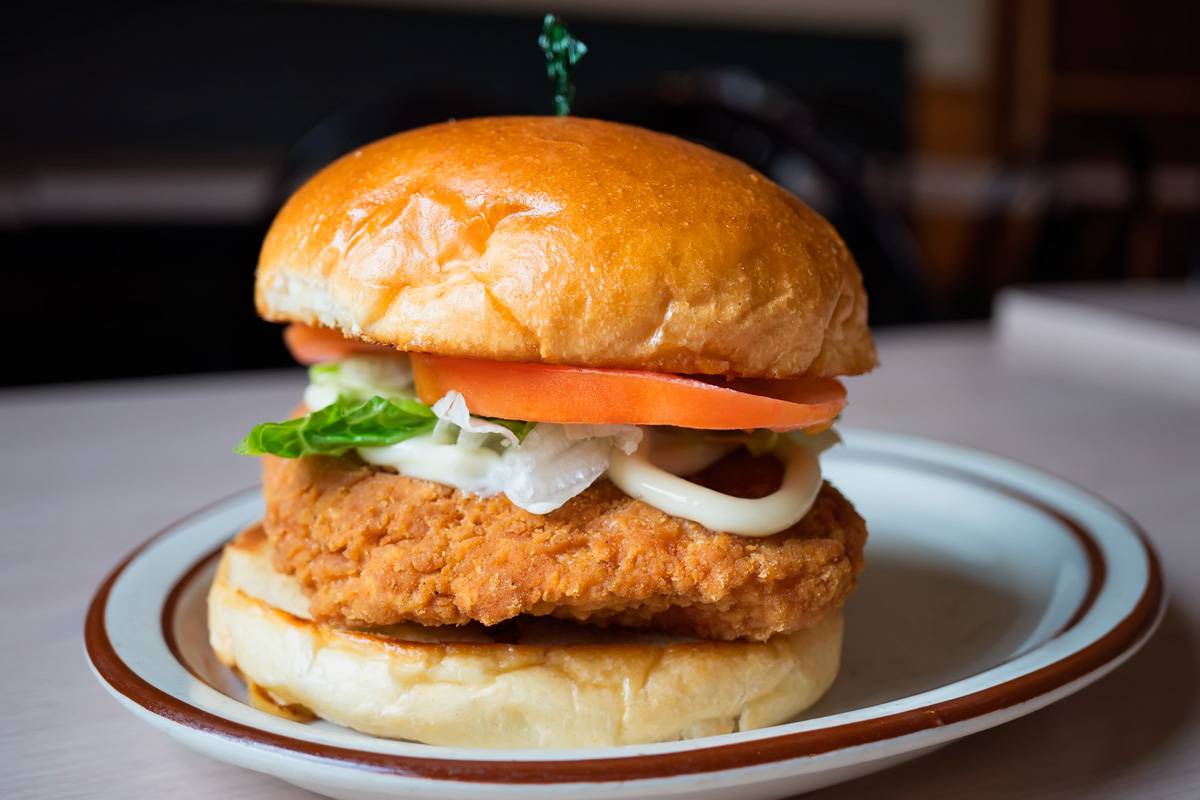 MONDAY: Crispy Chicken Sandwich with Fries Image