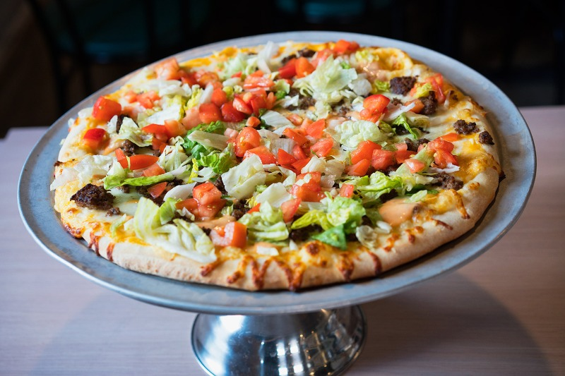 Cheeseburger Pizza Image