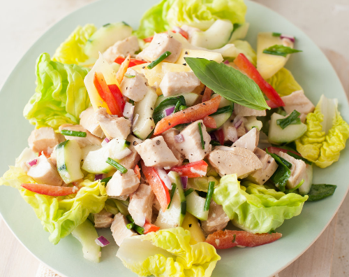 Garden Salad with Grilled Chicken Image