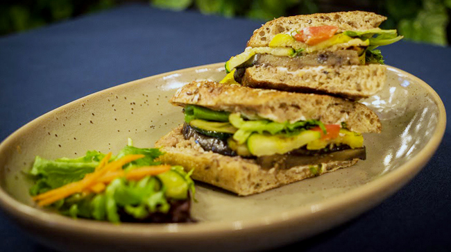 Grilled Vegetable & Goat Cheese Panini