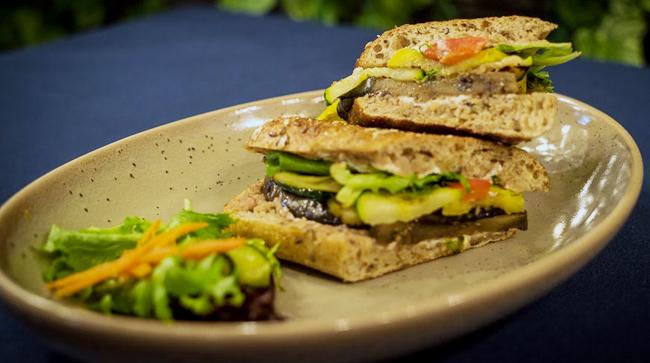 Vegetable & Goat Cheese Panini Image
