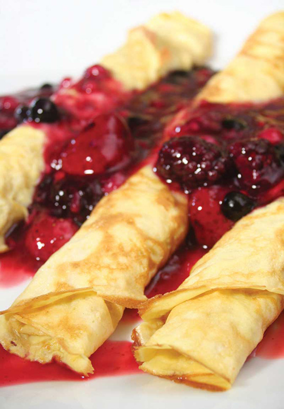 Danish Fruit Crepes Image