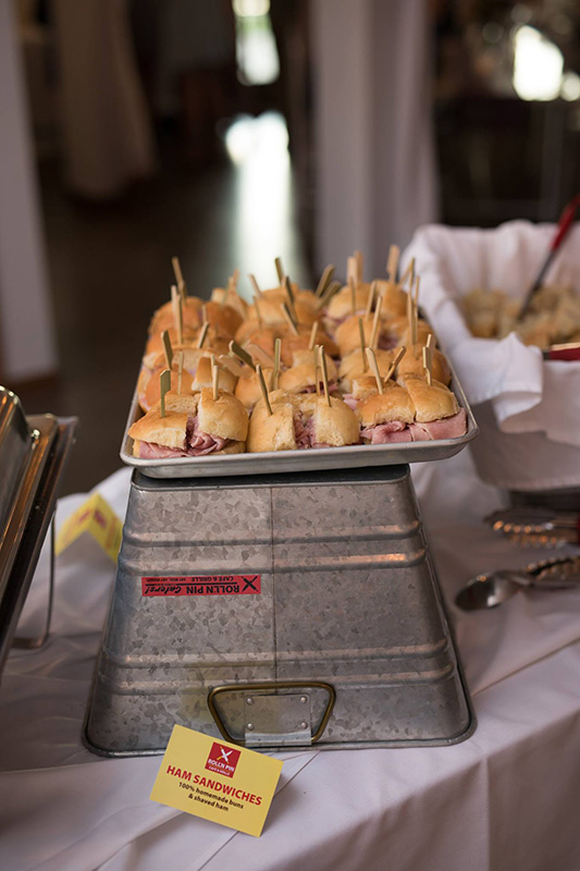 Quartered Ham Sandwiches Image