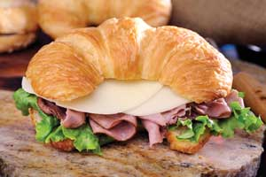 Croissant Sandwiches (on tray with choice of sides) Image