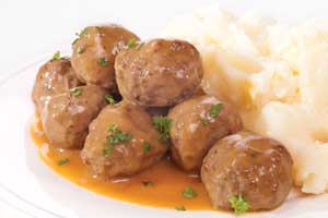 Gourmet Swedish Meatballs (with sides)
