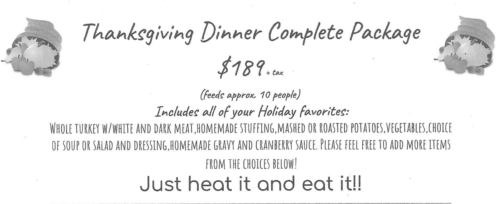 Thanksgiving Dinner package image