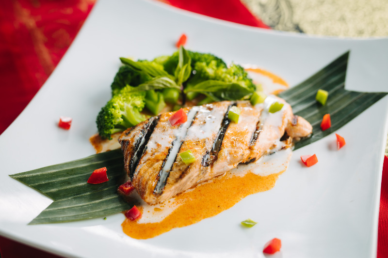 Panang Grilled Salmon Image