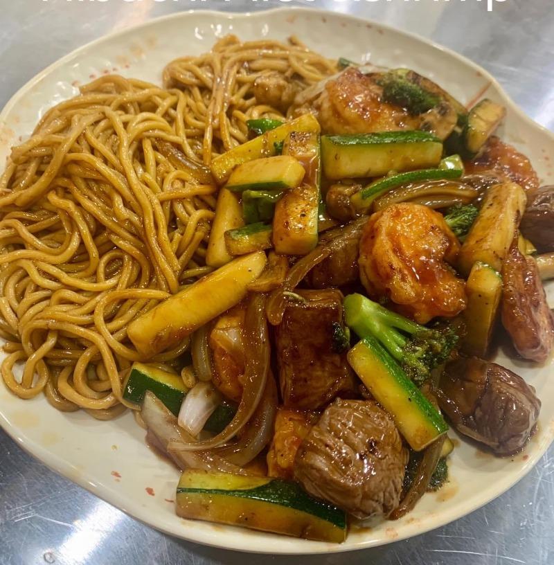 Hibachi Filet Mignon & Shrimp