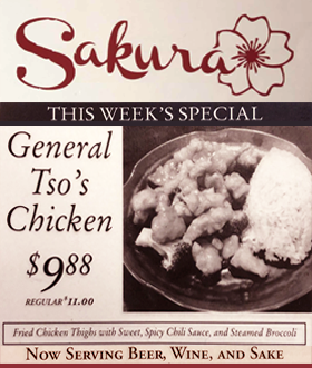 This Week Special General Tso's Chicken $9.88