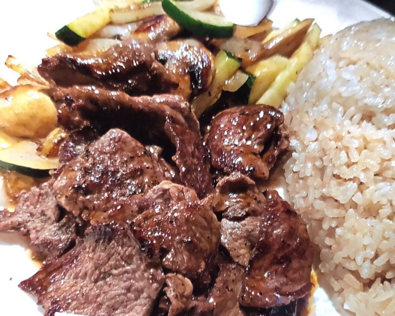 Beef Tip Hibachi Dinner