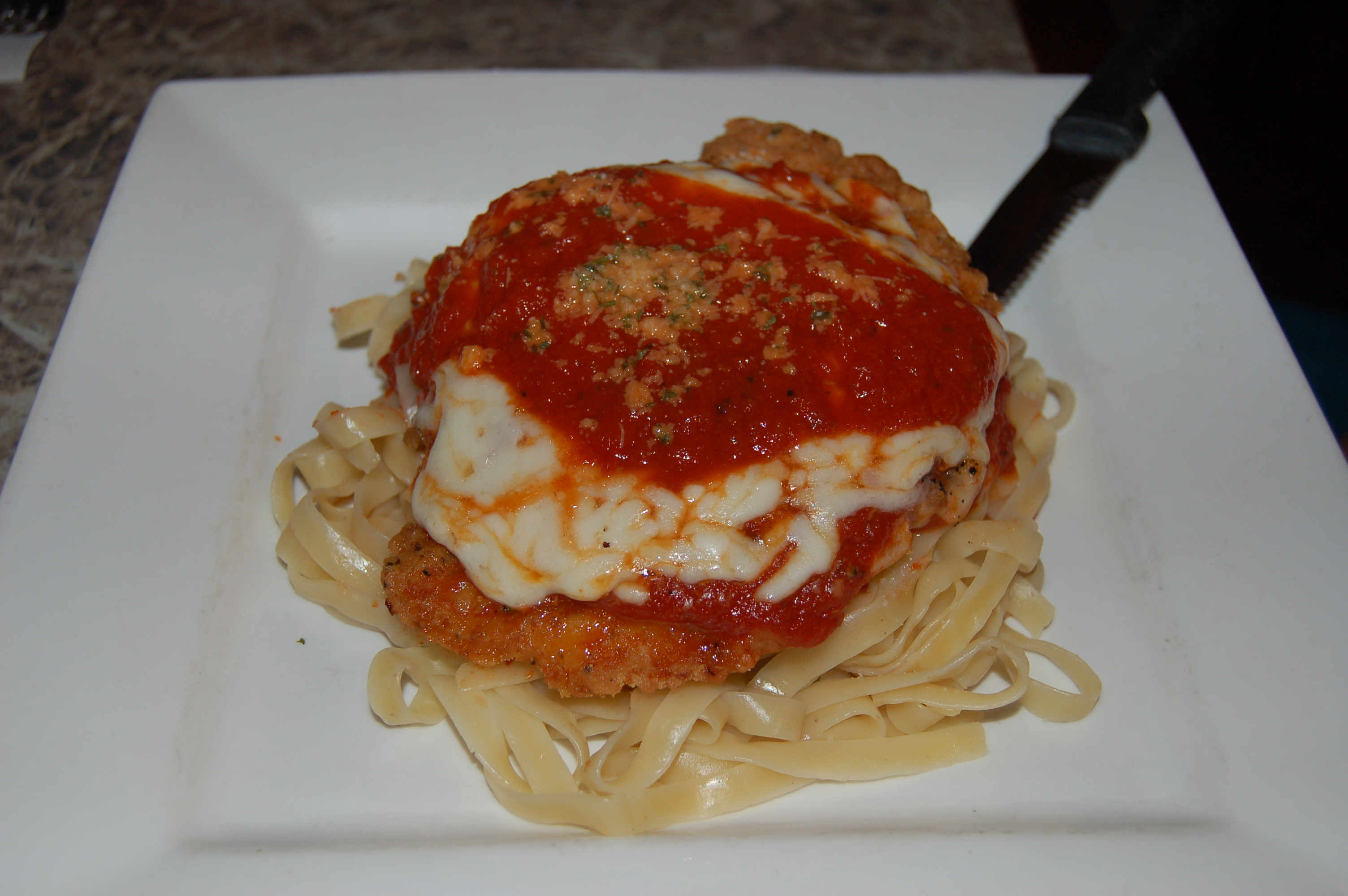 BREADED CHICKEN PARMIGIANA Image