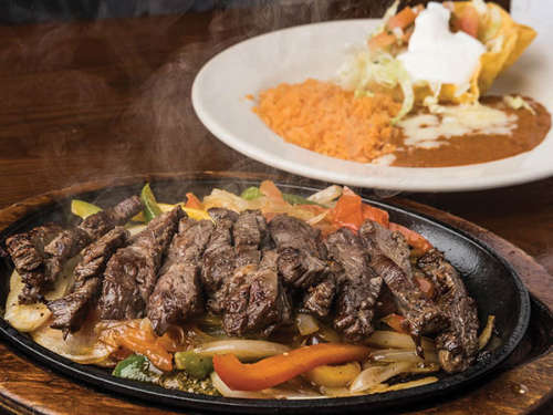 Steak Sizzling Fajitas Image