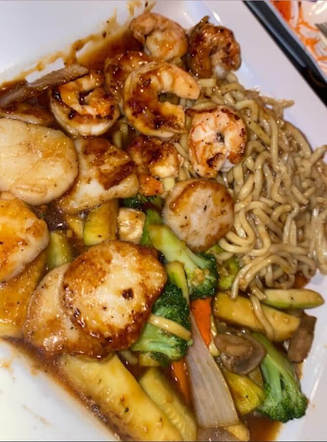 H15. Scallop & Shrimp Hibachi Dinner Image