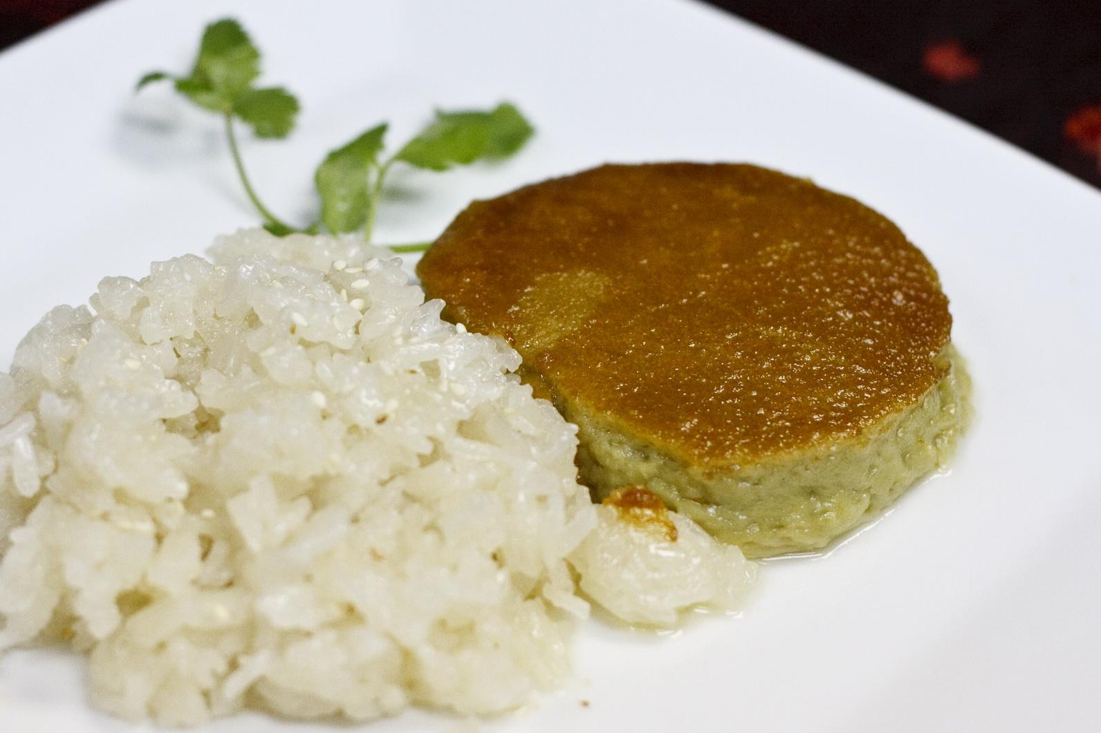 (56) Thai Custard with Sweet Sticky Rice Image
