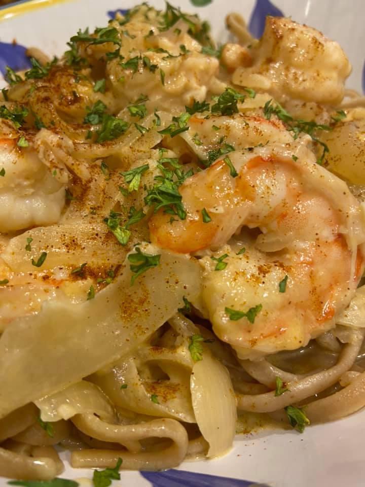 Cajun Garlic Shrimp over Shirataki Noodles Image