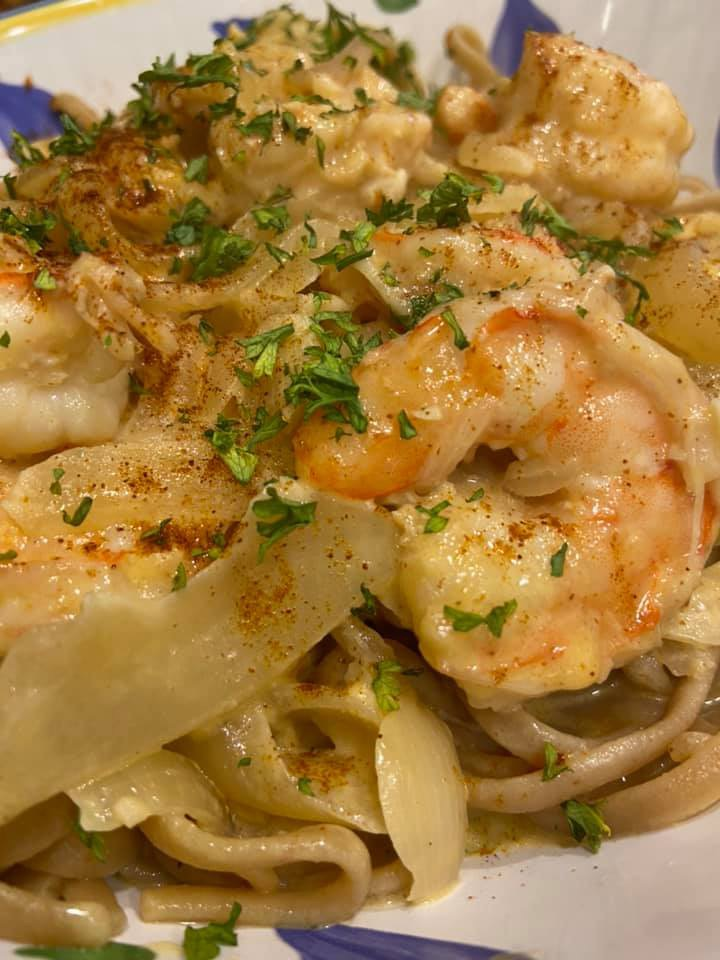 Cajun Garlic Shrimp over Shirataki Noodles Image