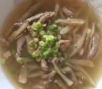 榨菜肉絲羹 Shredded Chinese Pickle Soup w. Pork