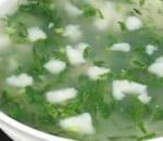Sliced Flounder w. Shepherd Purse Soup Image
