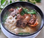 蔥烤排骨面 Pork Chop Noodle Soup w. Fried Scallion Image