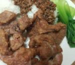 蔥香豬扒蓋飯 Crispy Pork Chop Over Rice