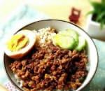 滷肉飯 Braised Pork Rice w. Boiled Egg