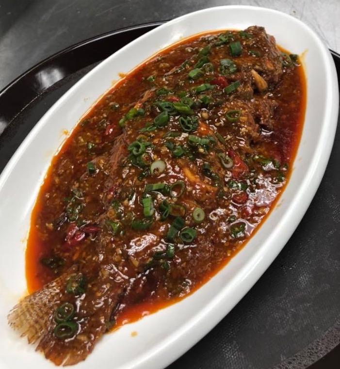 123. Whole Fish w. Black Bean Sauce 豆瓣全鱼