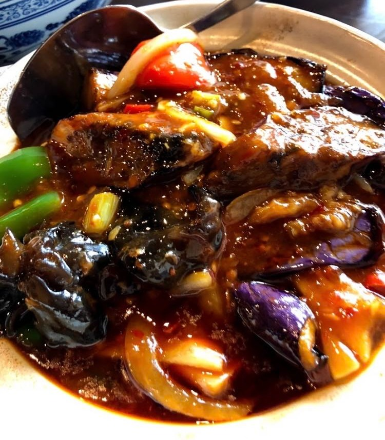 63. Chinese Eggplant in Garlic Sauce Pot 鱼香茄子