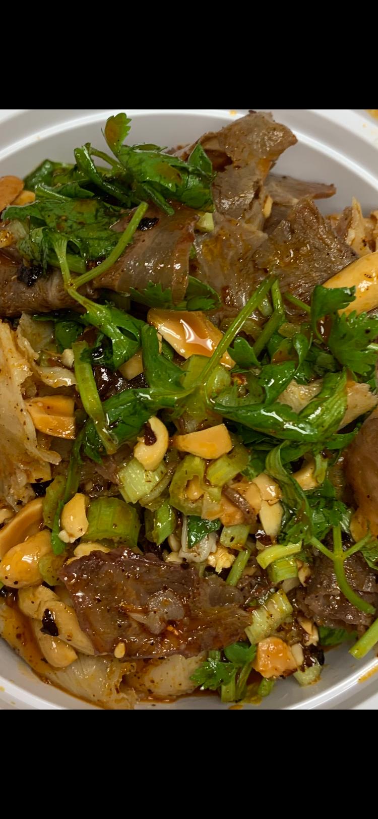 1. Beef Triple Tongue in Chili Oil (Cold) 夫妻肺片