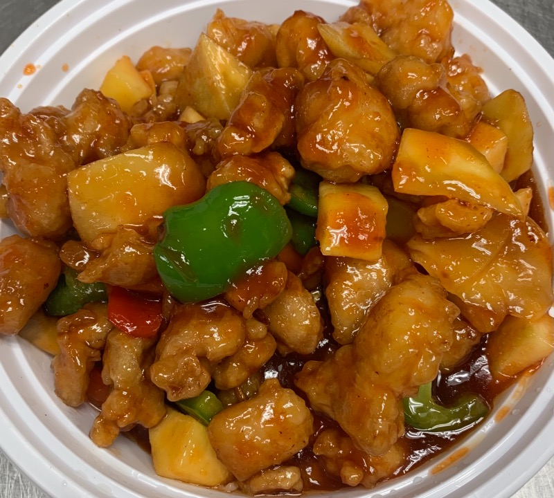 57. Vegetable Mango Chicken 芒果素鸡