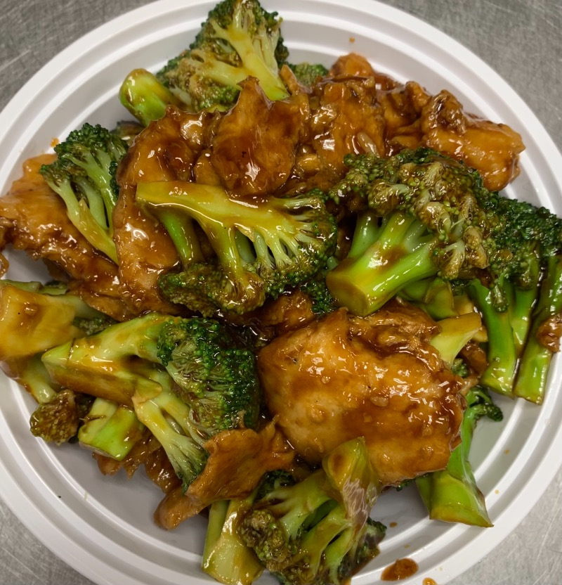 70. Broccoli w. Vegetarian Chicken 芥兰素鸡 Image