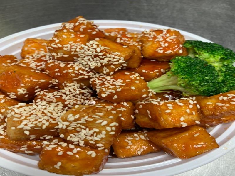 58. Vegetable Sesame Chicken 芝麻素鸡