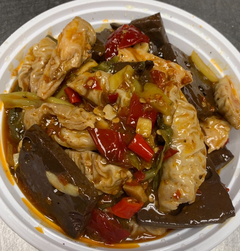 87. Pork Intestines w. Blood Pudding 血旺肥肠 Image