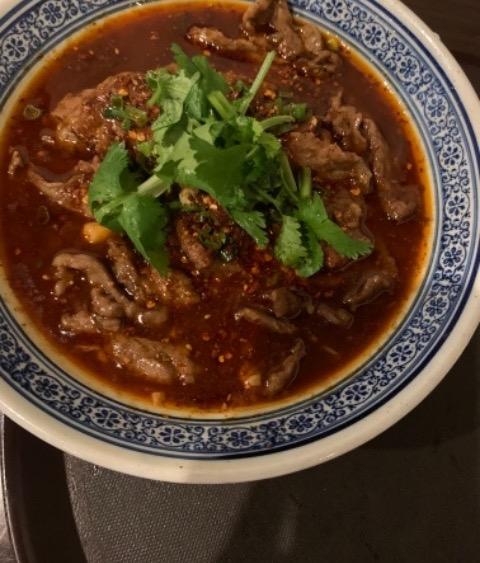 110. Vegetable Beef in Hot Broth 水煮牛肉