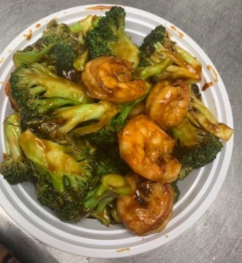 132. Jumbo Shrimp w. Broccoli 芥兰大虾 Image