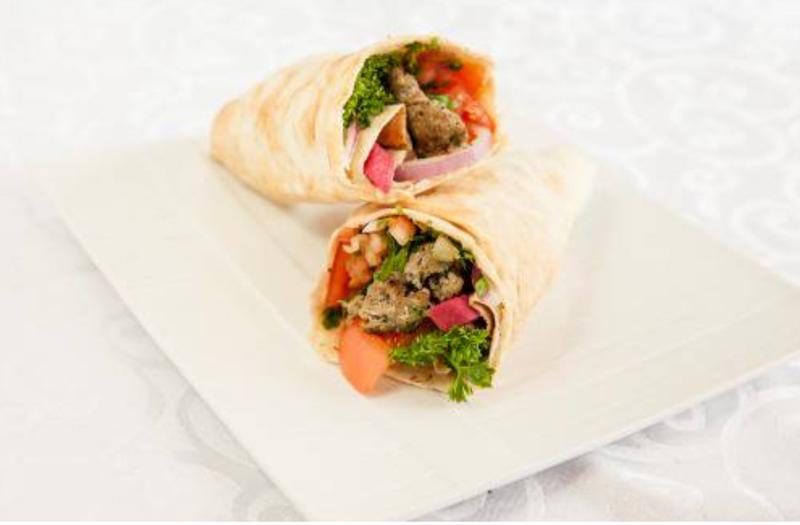 Lamb Kebab Wrap (Charcoal Grilled)