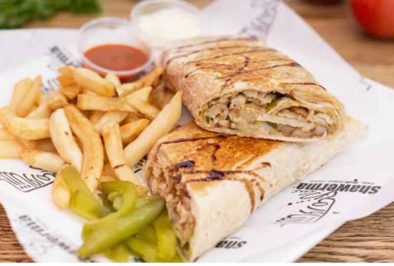 Chicken Shawarma Saj (Arabic Meal) Image
