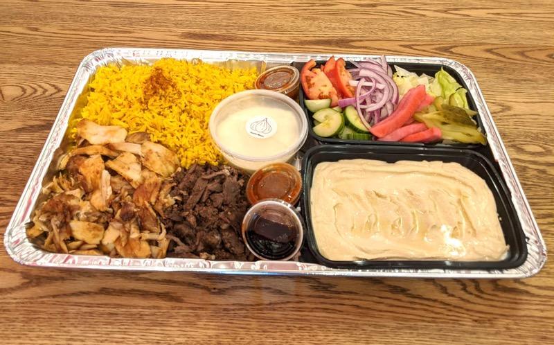 100% Gluten-Free Chicken-Beef Family Platter Image