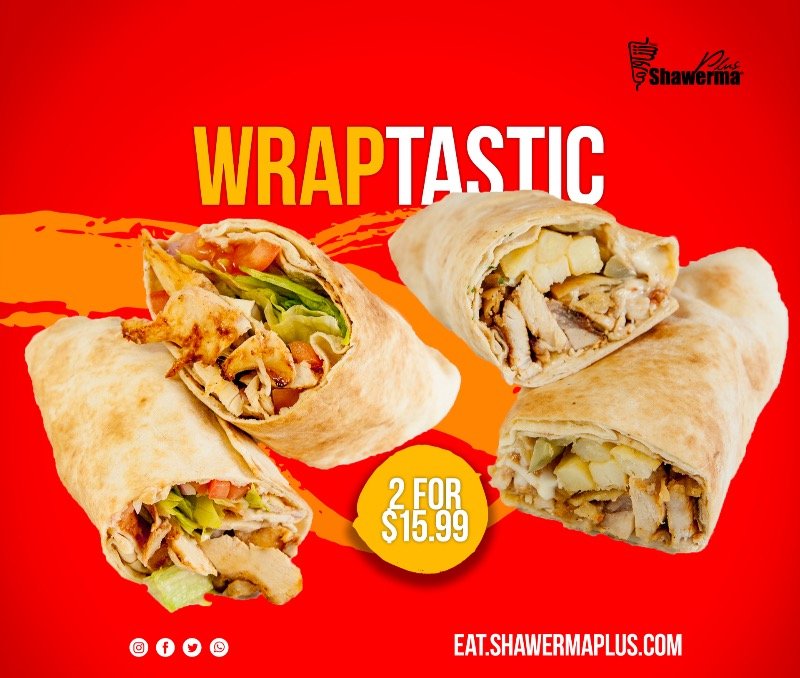 Wraptastic Offer for 2 Shawermas Image