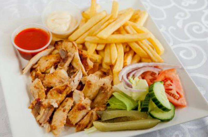 Mixed Shawerma Plate (Chicken, Beef)
