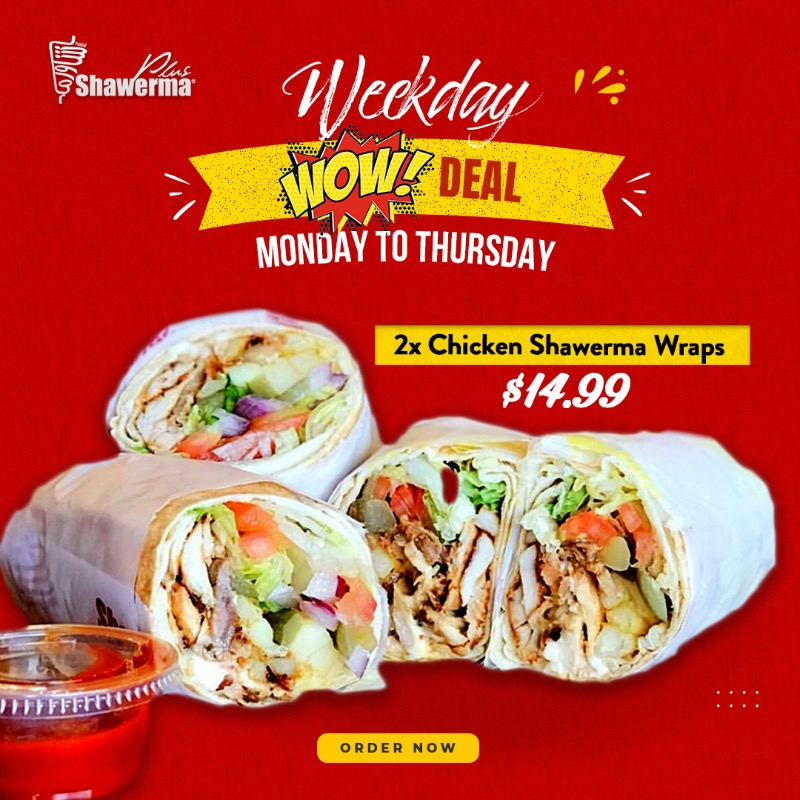 WOW Deal for 2 Shawermas