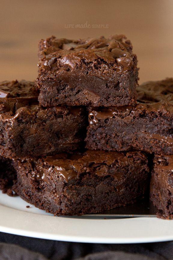 Triple Chocolate Chunk Brownies Image