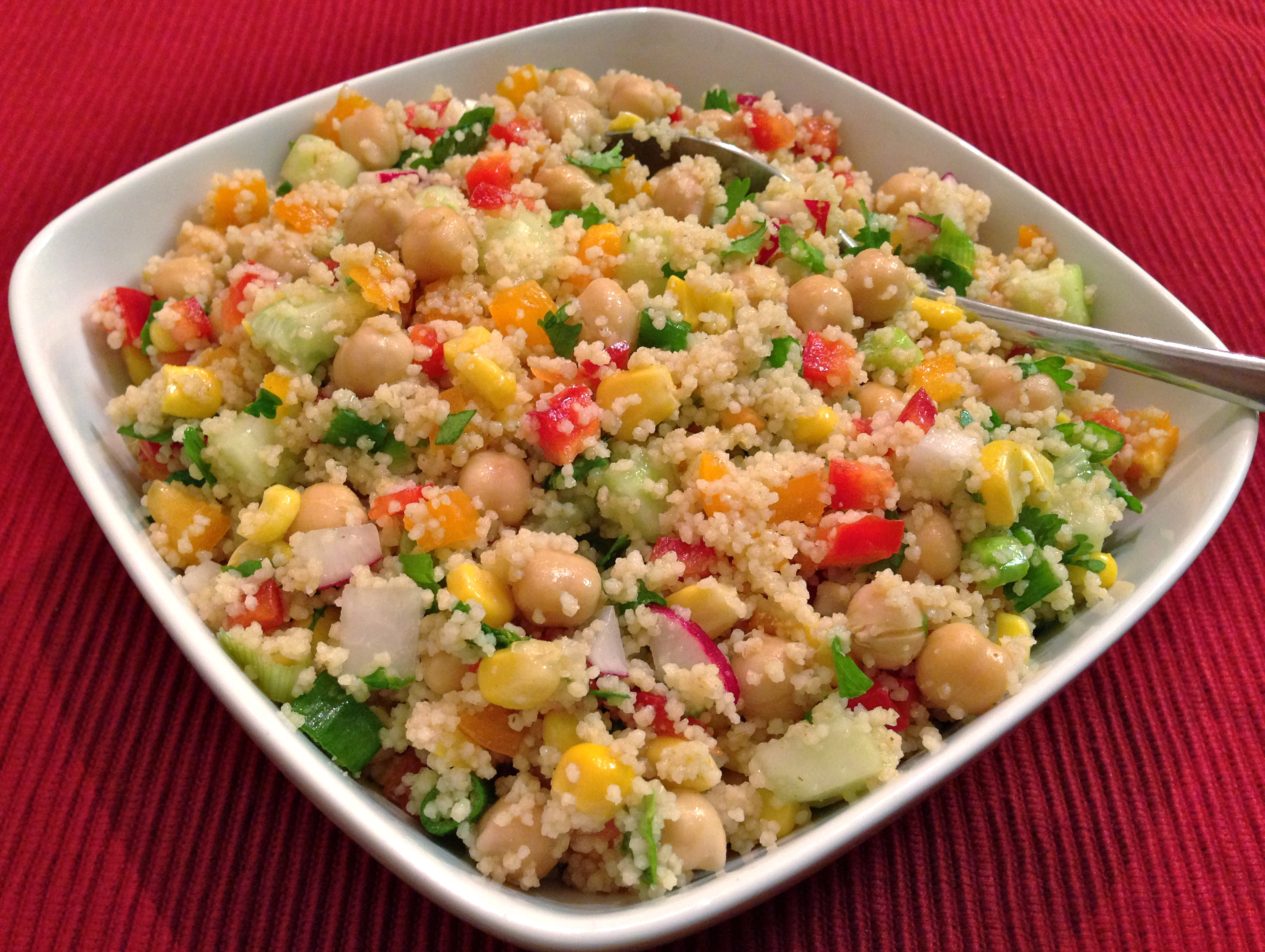 Couscous with Chickpea Salad