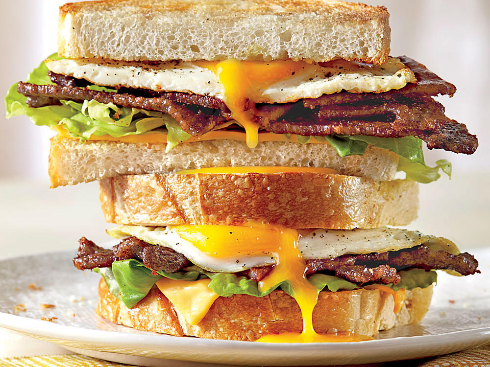 Egg and Bacon Sandwich Image