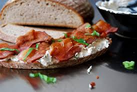 Cream Cheese with Bacon Sandwich Image