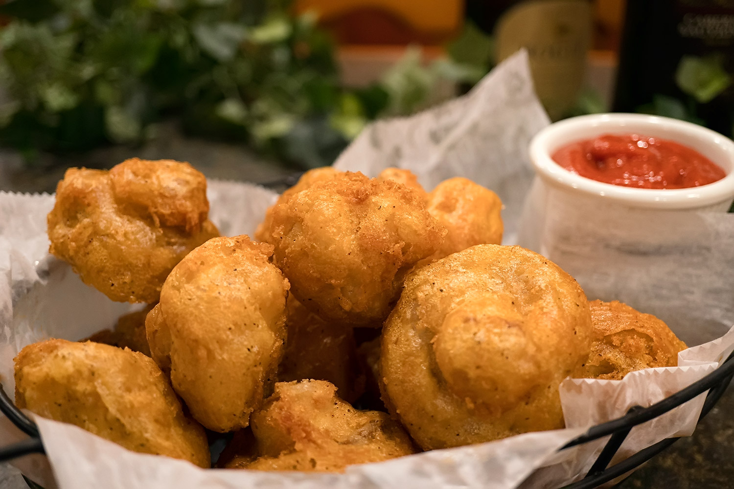 Battered Mushrooms
