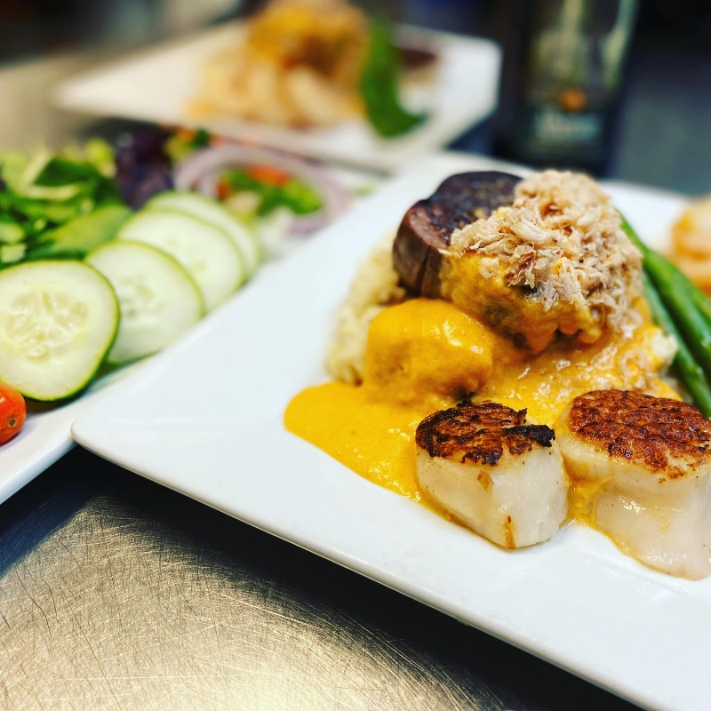 SATURDAY SPECIAL-Tenderloin Neubert for 2-House Salad-Bottle of Wine or 2 Old Fashioned Image