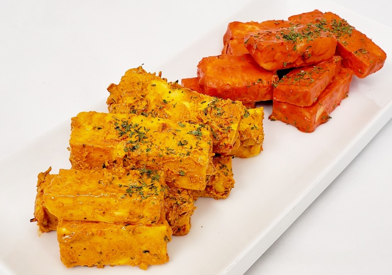 Raw Spicy Paneer Tikka